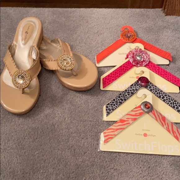 Lindsay Phillips Sandals With 4 Extra Straps
